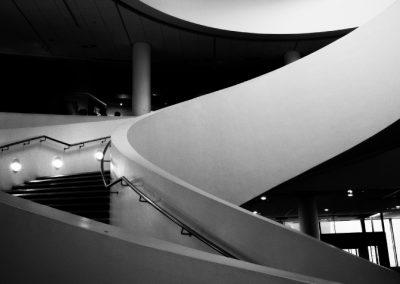 Concrete Railing on Custom Stairs